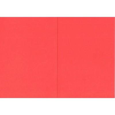 Заготовка для открытки А6 двойная (красный)